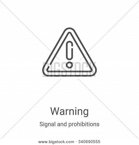 warning icon isolated on white background from signal and prohibitions collection. warning icon tren