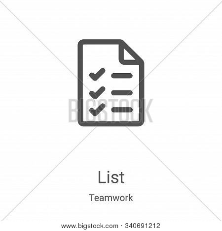 list icon isolated on white background from teamwork collection. list icon trendy and modern list sy