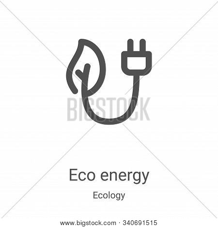 eco energy icon isolated on white background from ecology collection. eco energy icon trendy and mod