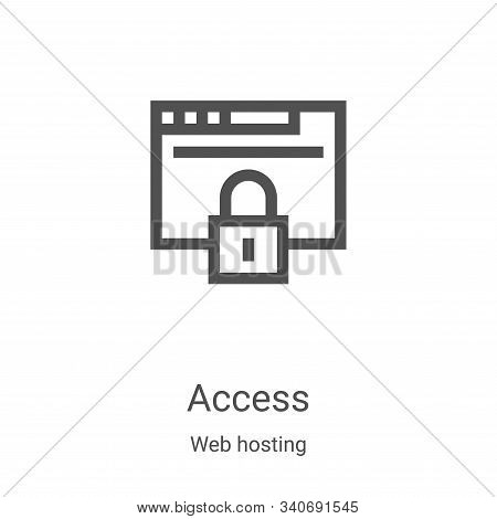 access icon isolated on white background from web hosting collection. access icon trendy and modern