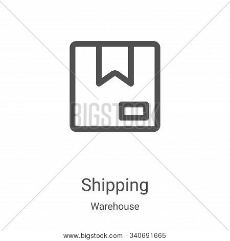 shipping icon isolated on white background from warehouse collection. shipping icon trendy and moder