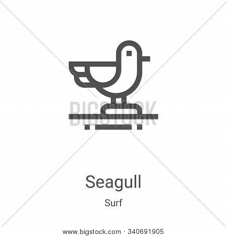 seagull icon isolated on white background from surf collection. seagull icon trendy and modern seagu