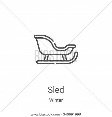 sled icon isolated on white background from winter collection. sled icon trendy and modern sled symb