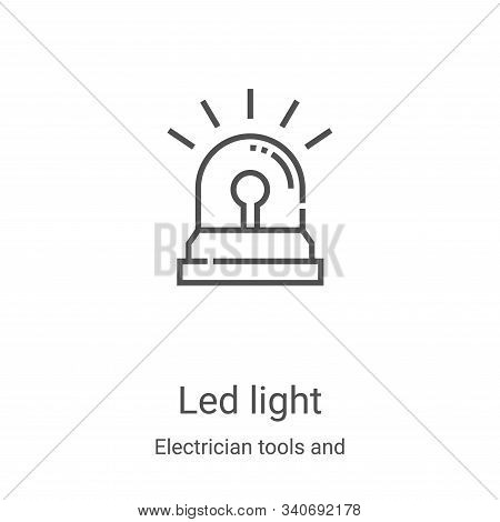 led light icon isolated on white background from electrician tools and elements collection. led ligh