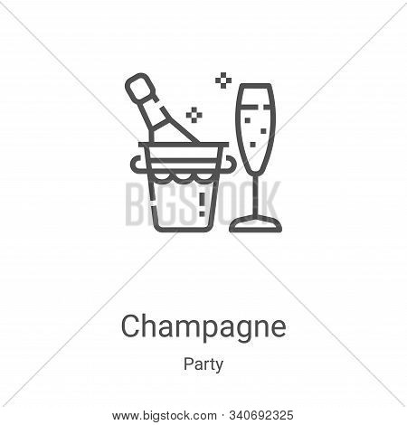 champagne icon isolated on white background from party collection. champagne icon trendy and modern