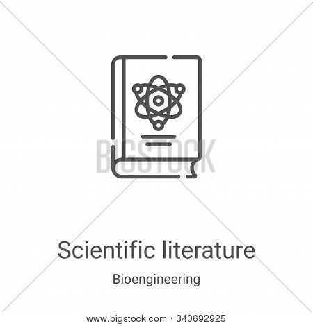 scientific literature icon isolated on white background from bioengineering collection. scientific l