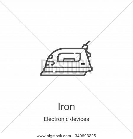iron icon isolated on white background from electronic devices collection. iron icon trendy and mode