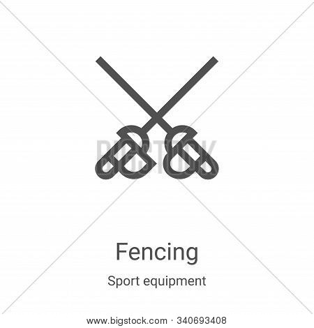 fencing icon isolated on white background from sport equipment collection. fencing icon trendy and m