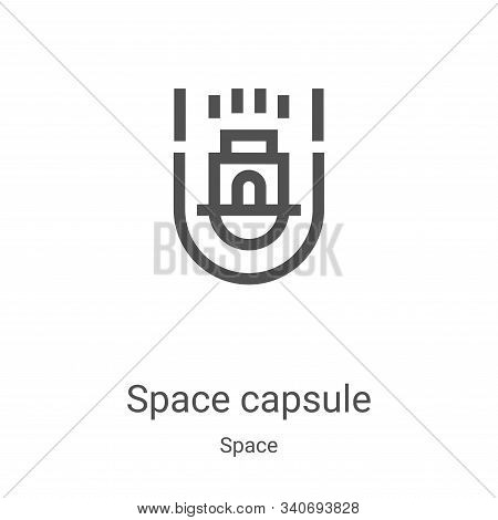 space capsule icon isolated on white background from space collection. space capsule icon trendy and