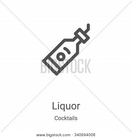 liquor icon isolated on white background from cocktails collection. liquor icon trendy and modern li