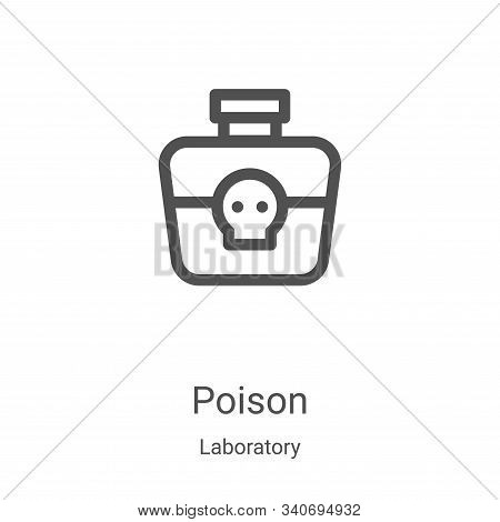 poison icon isolated on white background from laboratory collection. poison icon trendy and modern p