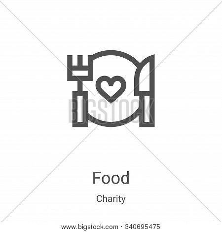 food icon isolated on white background from charity collection. food icon trendy and modern food sym