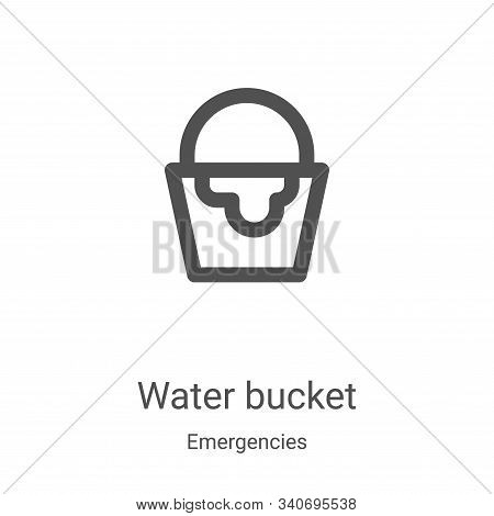 water bucket icon isolated on white background from emergencies collection. water bucket icon trendy