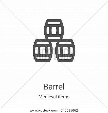 barrel icon isolated on white background from medieval items collection. barrel icon trendy and mode