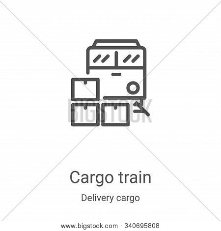 cargo train icon isolated on white background from delivery cargo collection. cargo train icon trend