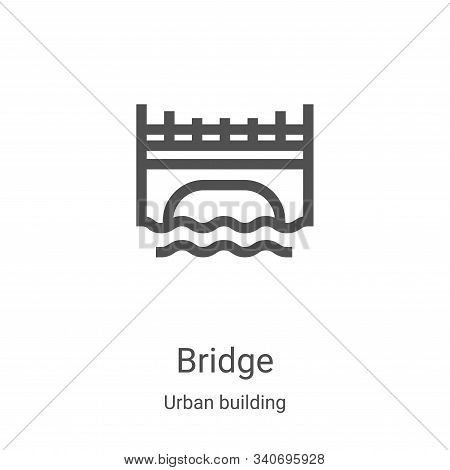 bridge icon isolated on white background from urban building collection. bridge icon trendy and mode