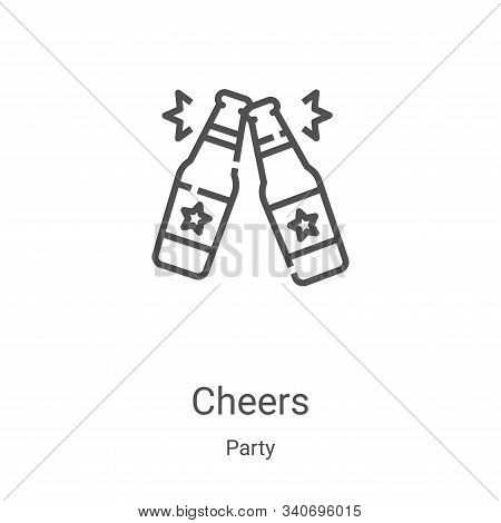 cheers icon isolated on white background from party collection. cheers icon trendy and modern cheers