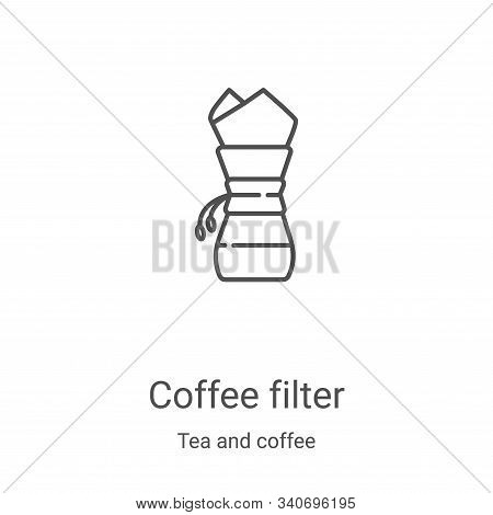 coffee filter icon isolated on white background from tea and coffee collection. coffee filter icon t
