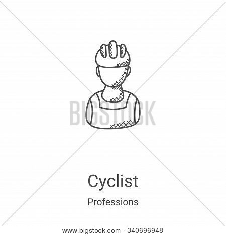 cyclist icon isolated on white background from professions collection. cyclist icon trendy and moder