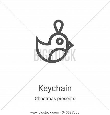 keychain icon isolated on white background from christmas presents collection. keychain icon trendy