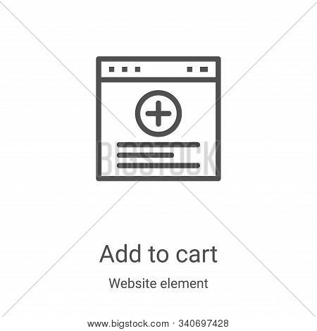 add to cart icon isolated on white background from website element collection. add to cart icon tren