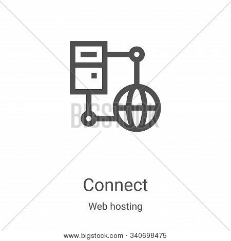 connect icon isolated on white background from web hosting collection. connect icon trendy and moder