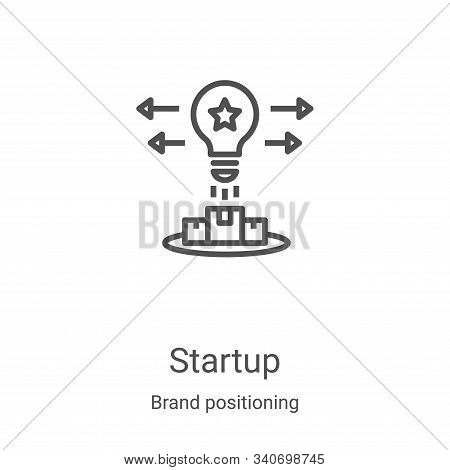 startup icon isolated on white background from brand positioning collection. startup icon trendy and