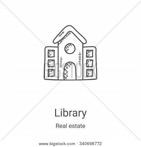 library icon isolated on white background from real estate collection. library icon trendy and moder