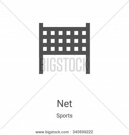 net icon isolated on white background from sports collection. net icon trendy and modern net symbol