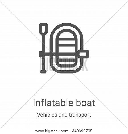 inflatable boat icon isolated on white background from vehicles and transport collection. inflatable
