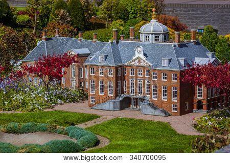 The Hague, Netherlands - April 26, 2017: Madurodam miniature park in The Hague.