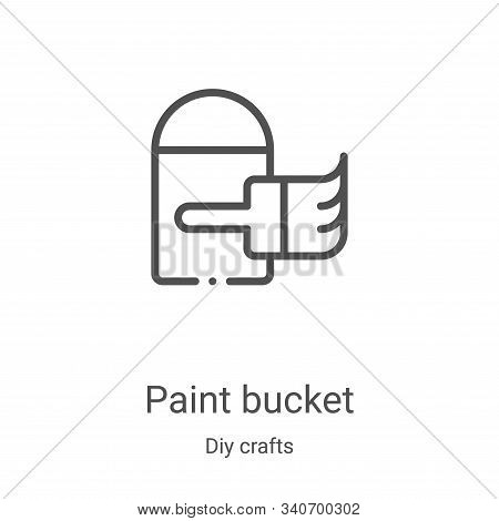 paint bucket icon isolated on white background from diy crafts collection. paint bucket icon trendy