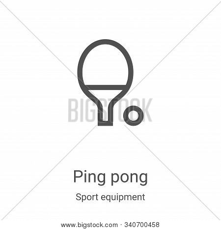ping pong icon isolated on white background from sport equipment collection. ping pong icon trendy a