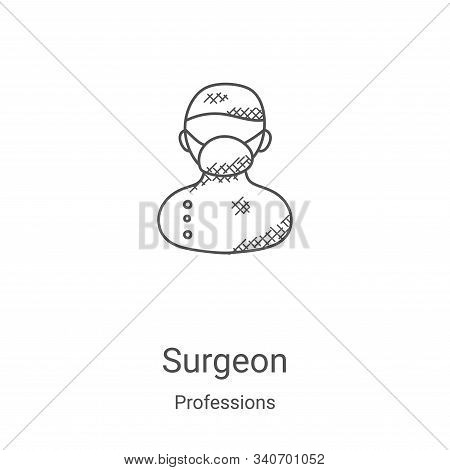 surgeon icon isolated on white background from professions collection. surgeon icon trendy and moder