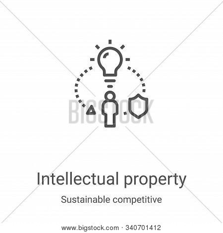 intellectual property icon isolated on white background from sustainable competitive advantage colle