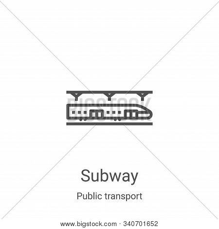 subway icon isolated on white background from public transport collection. subway icon trendy and mo