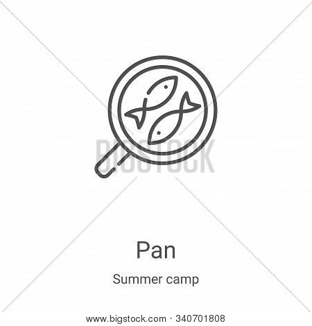 pan icon isolated on white background from summer camp collection. pan icon trendy and modern pan sy