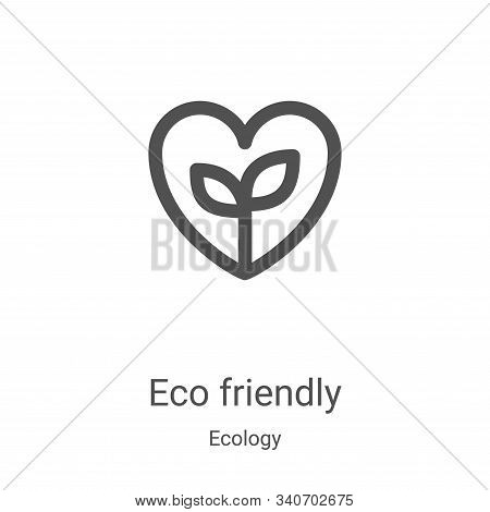 eco friendly icon isolated on white background from ecology collection. eco friendly icon trendy and