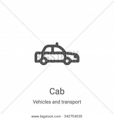 cab icon isolated on white background from vehicles and transport collection. cab icon trendy and mo