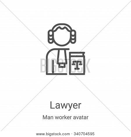 lawyer icon isolated on white background from man worker avatar collection. lawyer icon trendy and m