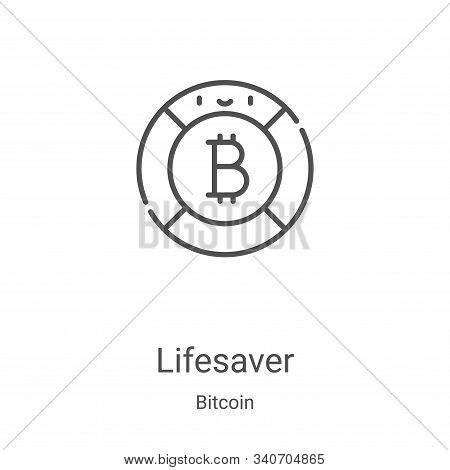 lifesaver icon isolated on white background from bitcoin collection. lifesaver icon trendy and moder