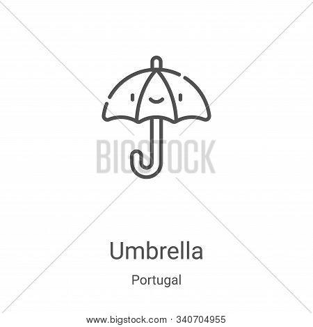 umbrella icon isolated on white background from portugal collection. umbrella icon trendy and modern
