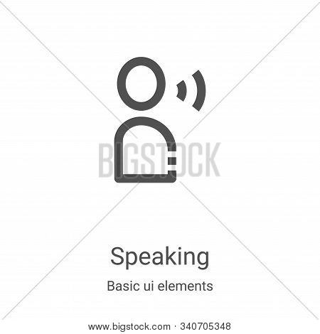 speaking icon isolated on white background from basic ui elements collection. speaking icon trendy a
