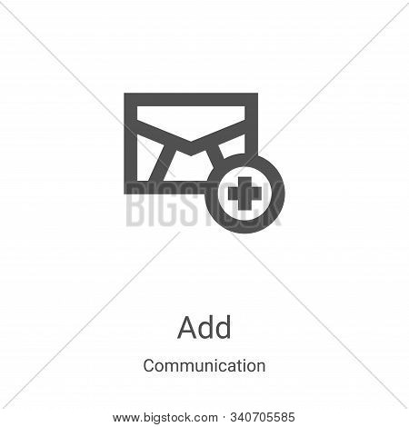 add icon isolated on white background from communication collection. add icon trendy and modern add