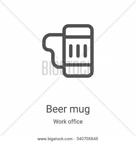 beer mug icon isolated on white background from work office collection. beer mug icon trendy and mod