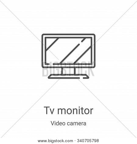 tv monitor icon isolated on white background from video camera collection. tv monitor icon trendy an