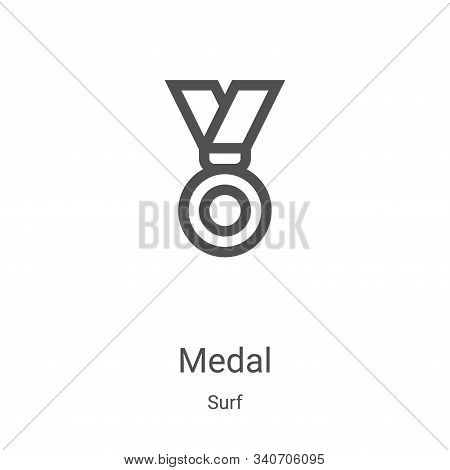 medal icon isolated on white background from surf collection. medal icon trendy and modern medal sym