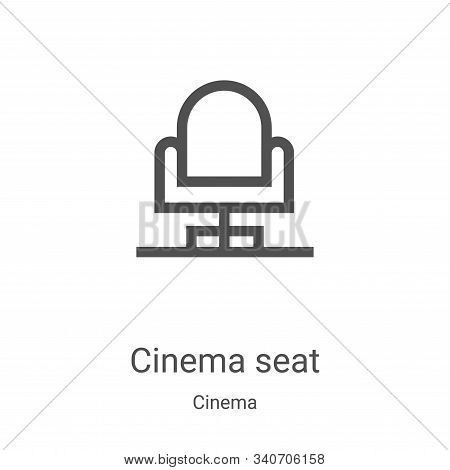 cinema seat icon isolated on white background from cinema collection. cinema seat icon trendy and mo