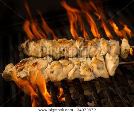 Chicken Brochette On Grill
