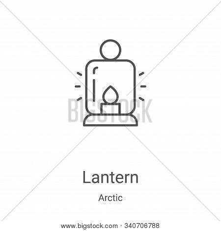 lantern icon isolated on white background from arctic collection. lantern icon trendy and modern lan